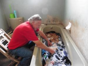 gary washing clothes