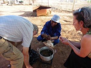 Defeathering chicken- Mara, Leunyo and Gary